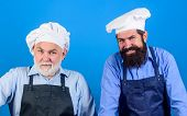 Cafe Workers. Restaurant Kitchen. Culinary Industry. Restaurant Staff. Father And Son Culinary Hobby poster