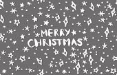 Merry Christmas Lettering Phrases And Graphic Illustrations Template. Greeting Card Invitation With  poster