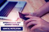 Handwriting Text Writing International Day Against. Concept Meaning International Day Against Female poster