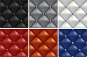 Luxury Set Of Black, White, Gray, Brown, Red, Blue Patterns Of Vintage Furniture Upholstery With Dif poster