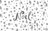 Noel Lettering Phrases And Graphic Illustrations Template. Greeting Card Invitation With Xmas Phrase poster