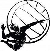 Постер, плакат: Пляжный волейбол Спайк