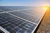 Eco Power, Photovoltaic, Alternative Electricity Source, Solar Panel Generating Electricity Clean En poster