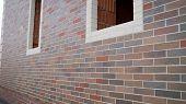 Brick House Under Construction. Colored Brick House Under Construction. Brick House Construction poster