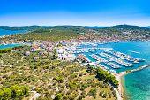Croatian Adriatic Coast, Murter Island And Town Of Murter From Air, Dalmatia Croatia poster