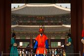 Gyeongbokgung Palace Entrance Red Guard Close