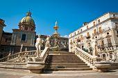 picture of piazza  - Piazza Pretoria or Piazza della Vergogna Palermo Sicily Italy - JPG