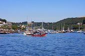 stock photo of dartmouth  - boats on the River Dart at Dartmouth