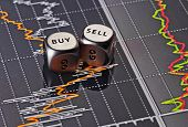 stock photo of dice  - Dices cubes to trader - JPG
