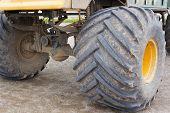 image of monster-truck  - Monster truck rear wheels and suspension - JPG