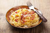 picture of carbonara  - spaghetti carbonara - JPG