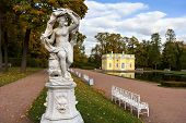 stock photo of tsarskoe  - Statue of Galatea in the Catherine park in Pushkin  - JPG