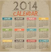 stock photo of august calendar  - 2014 Calendar paper design - JPG