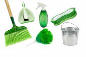 picture of spring-cleaning  - broom - JPG