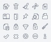 Document icon set