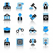 stock photo of tribunal  - Law icons - JPG