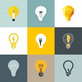 Creative Light Bulb Design Elements