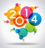 stock photo of new year 2014  - Vector 2014 Happy New Year background - JPG