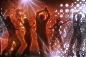 image of groupies  - many people are dancing in a disco - JPG
