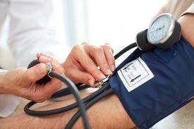 foto of hypertensive  - Blood pressure measuring - JPG
