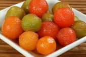 image of gulab  - selection of natural green and red gulab jamun - JPG