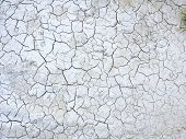 stock photo of drought  - Mud cracks dryness texture background - JPG