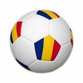 image of chad  - 3D Flags on soccer ball of Chad - JPG
