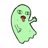 image of funny ghost  - funny cartoon ghost - JPG