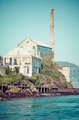 stock photo of alcatraz  - Alcatraz Island in San Francisco in USA - JPG