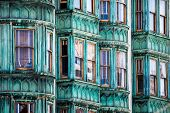 foto of victorian houses  - San Francisco old Victorian houses in USA - JPG