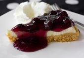 pic of cheesecake  - A delicious slice of cheesecake with fruit topping - JPG