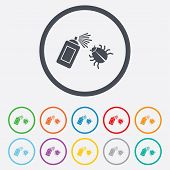pic of disinfection  - Bug disinfection sign icon - JPG