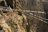 foto of mustang  - Chungsi monastery and cave in Mustang Nepal Himalaya - JPG