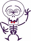 pic of bulge  - Cool skeleton with big head - JPG