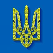 picture of trident  - Vector Decorative Ukrainian Trident - JPG