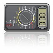 picture of  multimeter  - Digital multimeter - JPG