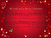 image of christmas song  - illustration of christmas card with a song - JPG