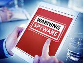 foto of spyware  - Hands Holding Digital Tablet Spyware - JPG