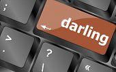 stock photo of backspace  - darling button on computer pc keyboard key - JPG