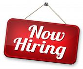 hiring now new employer job opening or offer search for jobs vacancy help wanted  poster