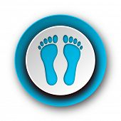 image of webbed feet white  - foot blue modern web icon on white background - JPG