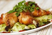picture of roast chicken  - Gourmet roast chicken - JPG