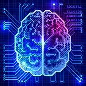 image of science  - Abstract science background with brain - JPG