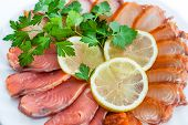picture of collate  - sliced with smoked salmon lemon and parsley - JPG