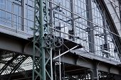picture of leipzig  - Detail of the train stations of Leipzig - JPG