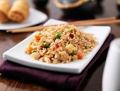pic of chinese restaurant  - plate of chinese fried rice - JPG
