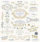 foto of emblem  - Vintage Vector Design Elements Collection - JPG