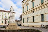 stock photo of vicenza  - Piazza del Castello in Vicenza Veneto Italy - JPG