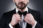 picture of bow tie hair  - Close - JPG