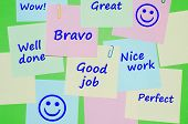 pic of encouraging  - Appreciation and encouraging  messages on colorful reminder notes - JPG